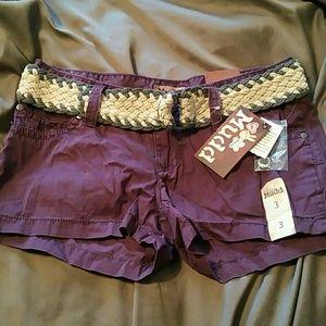 New purple Mudd shorts